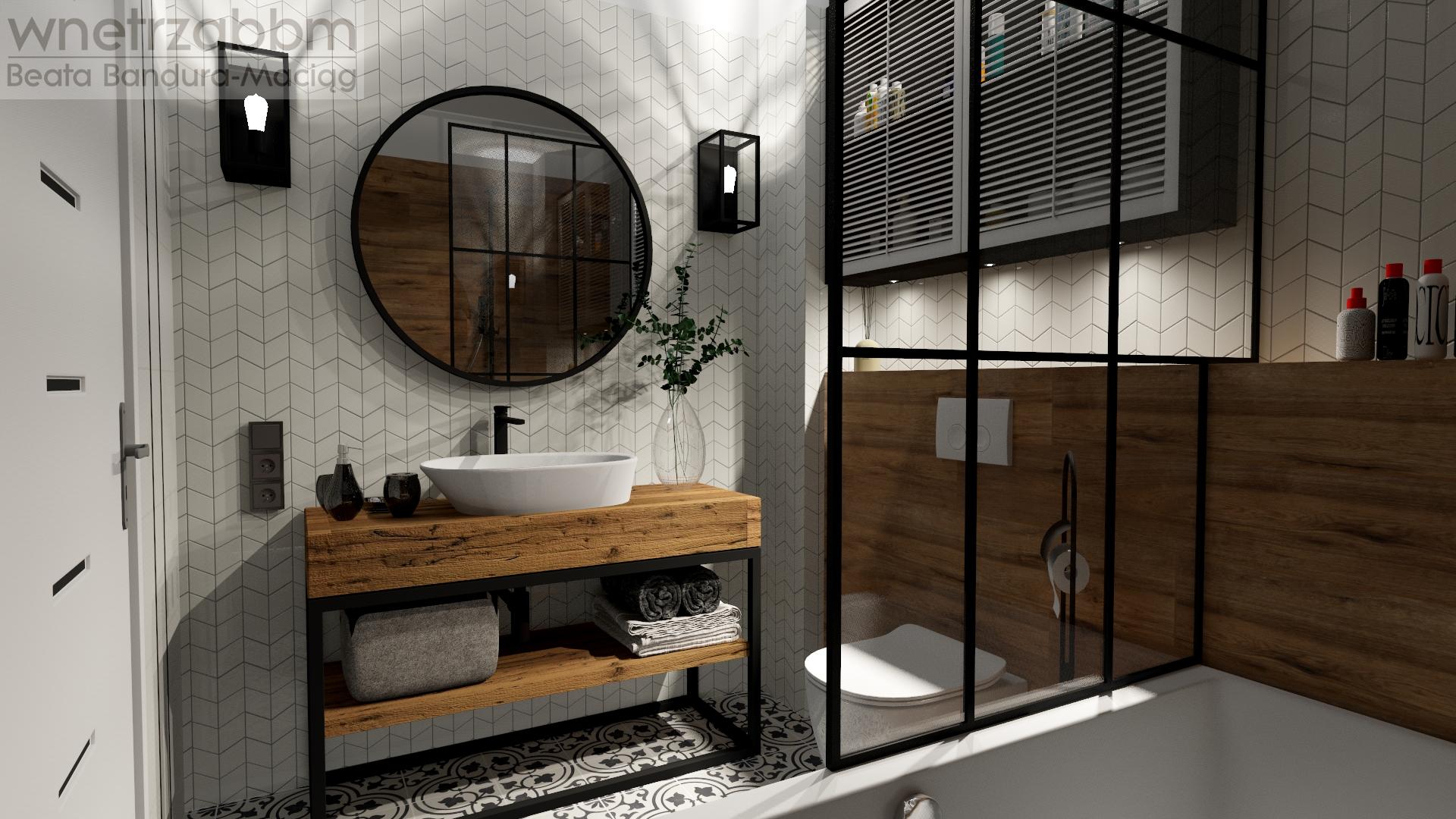 Łazienka 19 – jodełka chevron