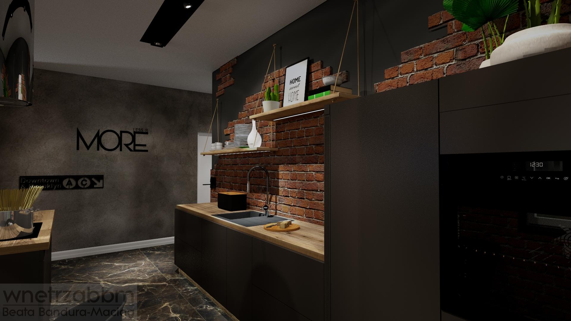 Mieszkanie w męskim loftowym stylu – kuchnia