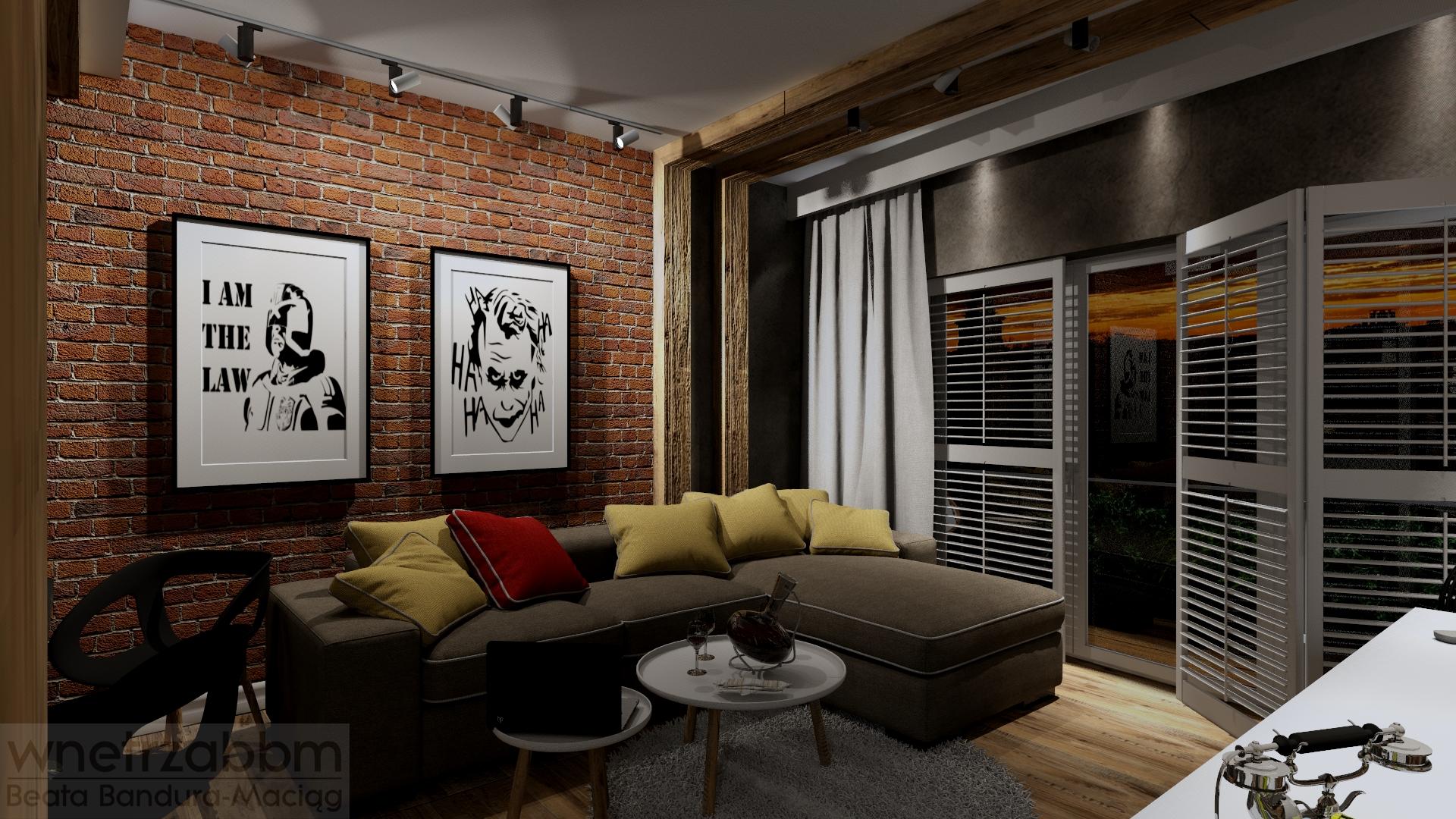 Mieszkanie w męskim loftowym stylu